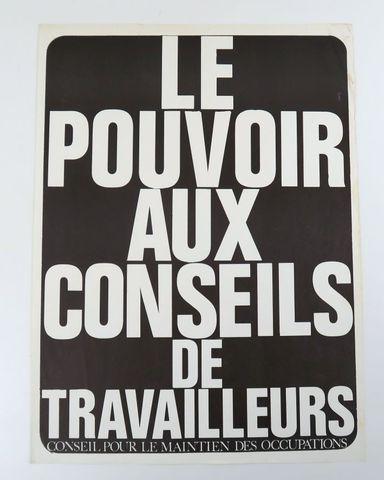 Affiche - Internationale Situationniste. Le Pouvoir aux conseils ...