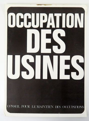Affiche - Internationale Situationniste. Occupations des usines. ...