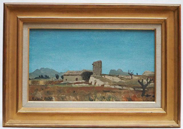 Roland OUDOT (1897-1981) Pigeonnier à St. Sixte Huile sur toile s...