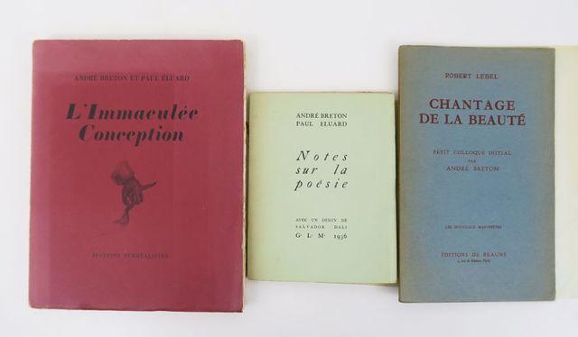 BRETON (André) & ÉLUARD (Paul). L'Immaculée Conception. Paris, Éd...