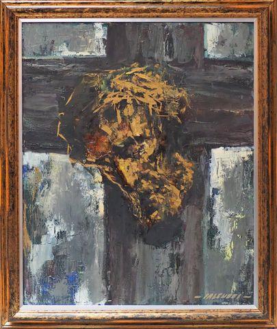 Robert FALCUCCI (1900-1989) Christ Huile sur toile signée en bas ...
