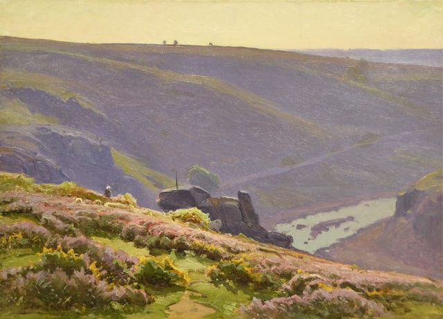 William DIDIER-POUGET (1864-1959) Paysage animé d'un berger et so...