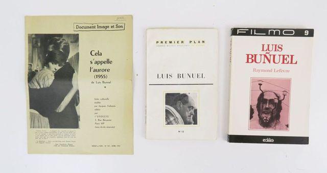 BUÑUEL (Luis). 3 volumes:  - Document Image et Son. Cela s'appel...