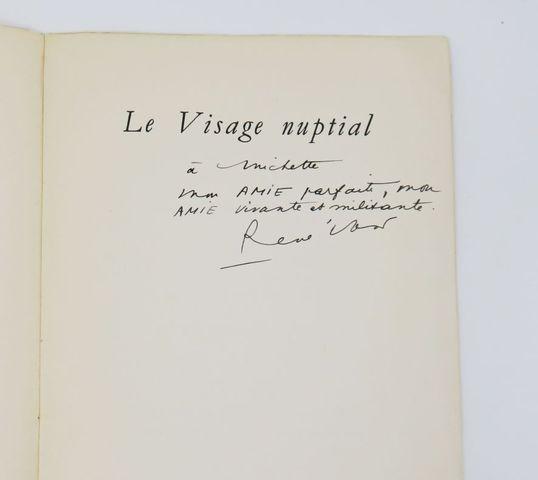CHAR (René). Le Visage nuptial. Paris, sn [Imprimerie Beresniak],...