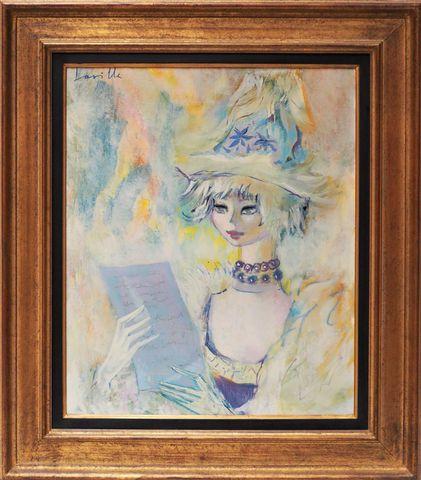 Henri LAVILLE (1916 - ?) La lettre Huile sur toile signée en haut...