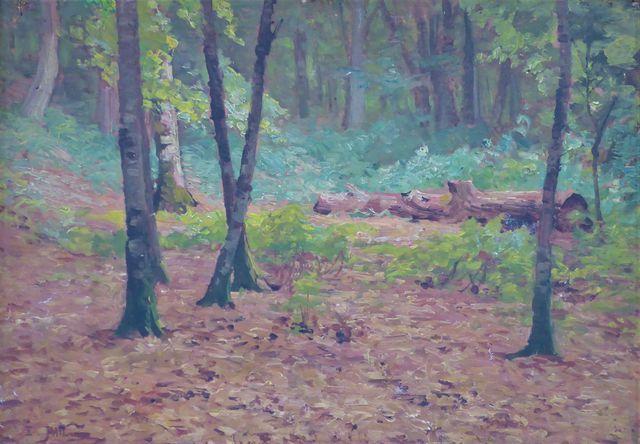 Edouard PAIL (1851-1916) Sous-bois Huile sur panneau signée en ba...