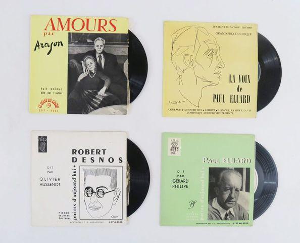Disques vinyle. Ensemble de 4 disques 33 tours 1/3:  - La Voix d...