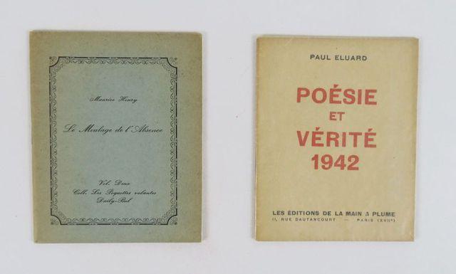 ÉLUARD (Paul). Poésie et Vérité 1942. Paris, Éditions de la Main ...