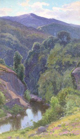 William DIDIER-POUGET (1864-1959) Paysage Huile sur toile monogra...