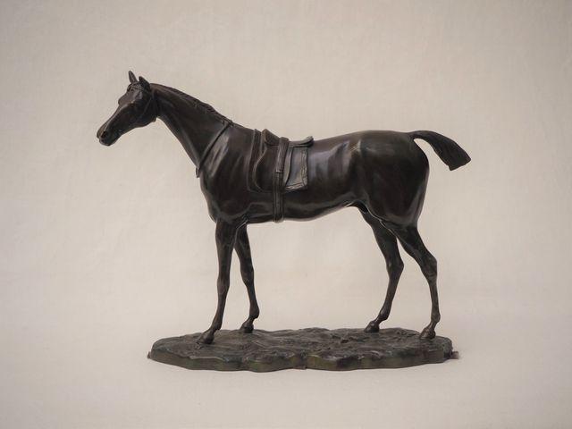 John WILLIS-GOOD (1845-1879), d'après Cheval Bronze à patine brun...