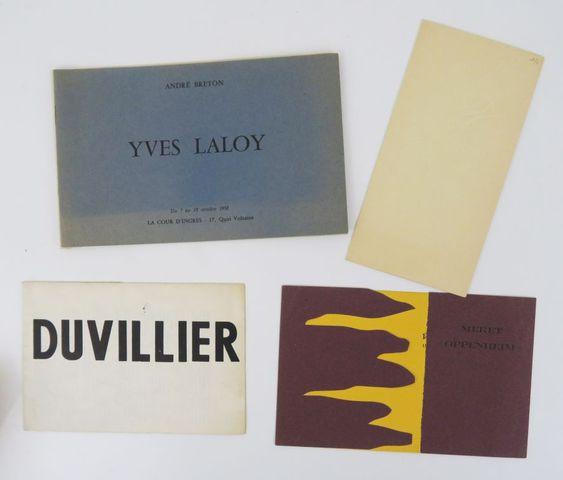 Etoile Scellée (L'). 3 catalogues ou cartons d'invitation de la g...