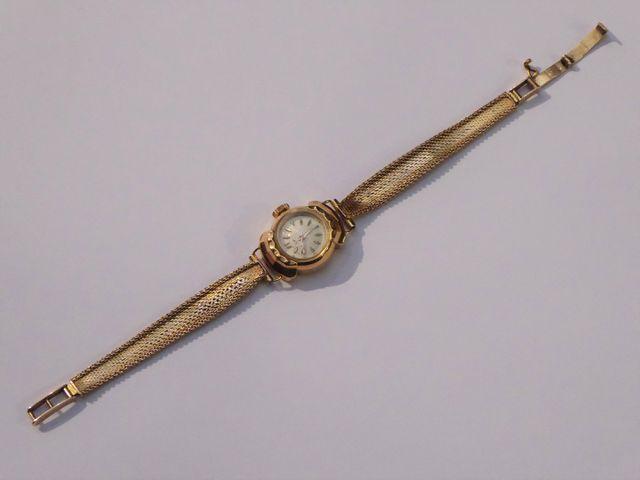 Montre bracelet or jaune Poids : 19 grs