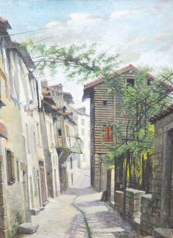 Paul Laurent COURTOT (1856-1925) Rue du Rajat à Limoges Huile sur...