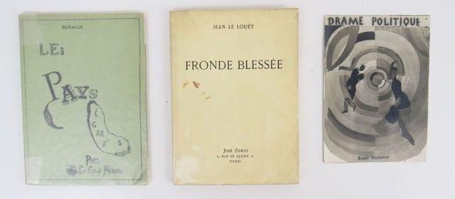 LE LOUËT (Jean). Fronde blessée. Paris, José Corti, 1935. In-8 br...