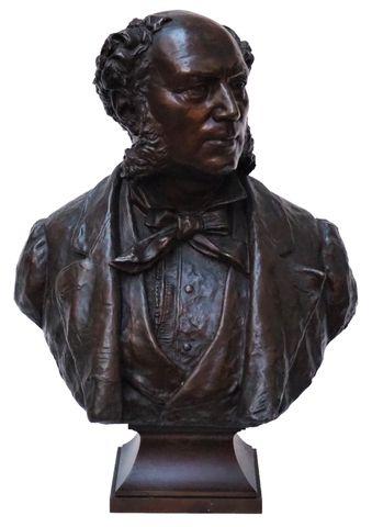 André Louise Adolphe LAOUST (1843-1924) Buste du Consul de Perse ...