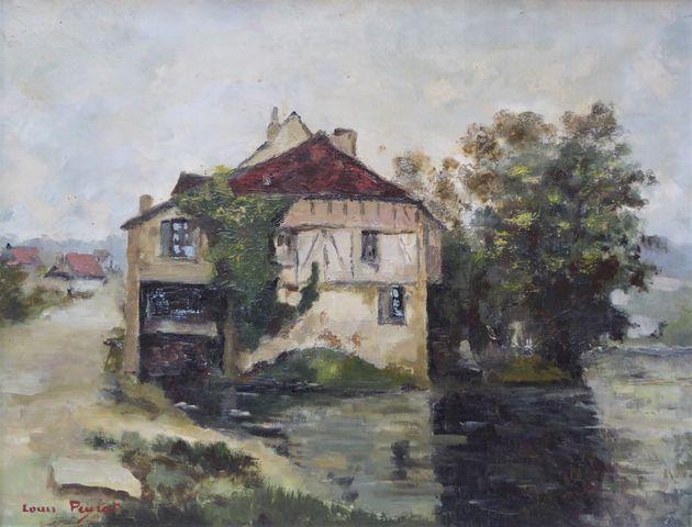 Louis PEYRAT (1911-1999) Argenton-sur-Creuse Huile sur toile sign...