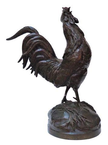 Auguste Nicolas CAÏN (1822-1894) Le Réveil 1914 Bronze à patine b...