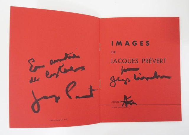 [PRÉVERT (Jacques)]. Catalogue. Images de Jacques Prévert. Paris,...