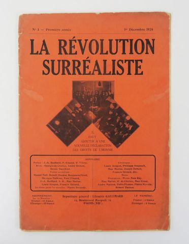 Révolution Surréaliste (La). N°1 - Première année. 1er décembre 1...
