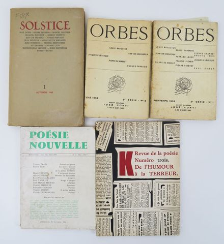 [REVUES]. - ORBES, 2e série n°1 (printemps 1933) et n°2 (été 1933...