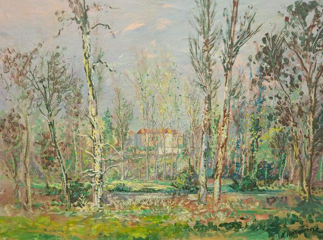 Alexis-Guy KOROVINE (né en 1928) Paysage Huile sur toile signée e...