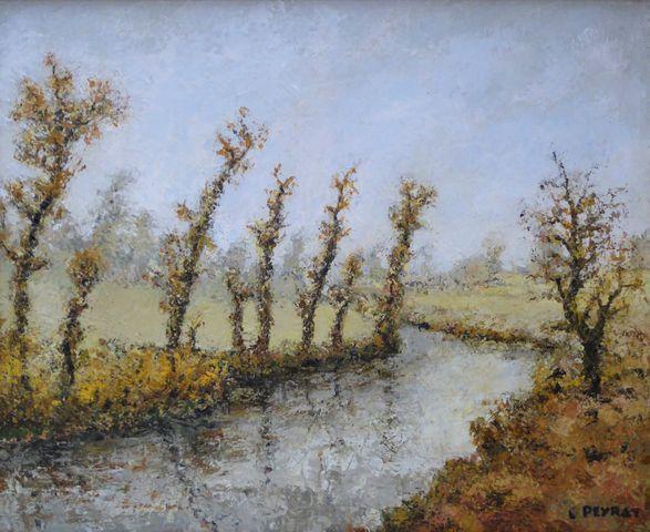 Louis PEYRAT (1911-1999) Paysage corrézien 1967 Huile sur toile s...