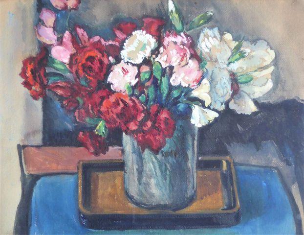 Charles Théodore BICHET (1863-1929)  Fleurs 1926 Aquarelle sur pa...