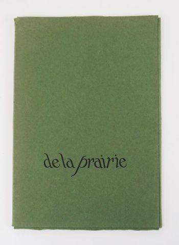 STARITSKY & GUILLEVIC. De la prairie. sl, Jean Petithory, 1970. P...