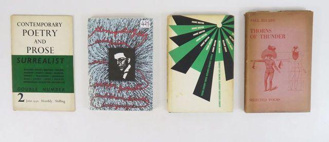 Lot. Ensemble de 4 ouvrages surréalistes traduits en anglais:  -...