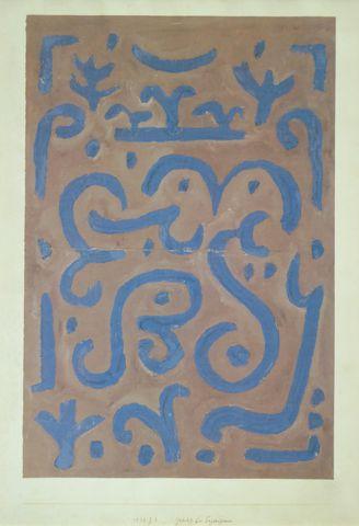 Paul Klee (1879-1940) (d'après) Gedicht bei Tages-Grauen, 1938 D'...