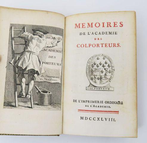 [CAYLUS (Anne Claude Philippe, Comte de)]. Mémoires de l'Académie...