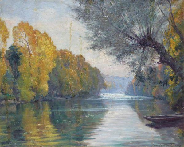 Jean TEILLIET (1870-1931) Paysage Huile sur toile signée et datée...