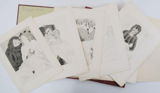 MARTIN (Charles). Suite de 15 gravures à l'eau-forte illustrant l...