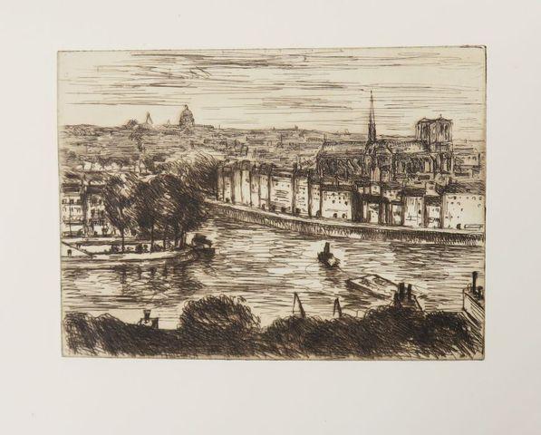 FABER (Jean) & GOR (C.). La Seine à travers Paris. Paris, d'Align...