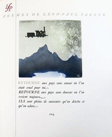 ALEXEIEFF (Alexandre) & FARGUE (Léon-Paul). Poëmes. Paris, nrf, 1...