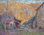 Paul THOMAS (1868-1910) Vieux Moulin à Châteauponsac Huile sur to...
