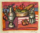 Franz PRIKING (1929-1979) Nature morte aux fruits Lithographie en...