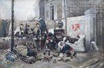 Alphonse Marie Adolphe DE NEUVILLE (1835-1885) Soldats en détente...